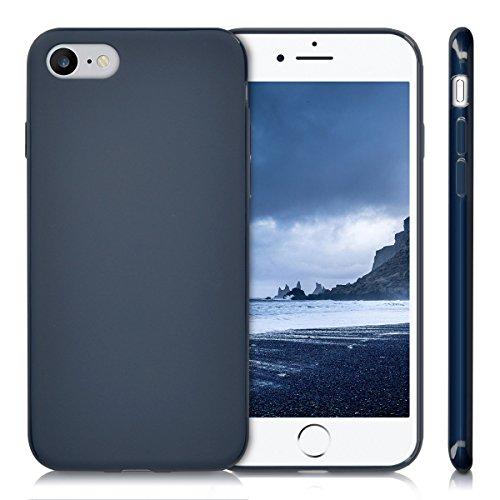 kwmobile Étui en TPU silicone élégant pour Apple iPhone 7 / 8 en petrol mat .bleu foncé mat
