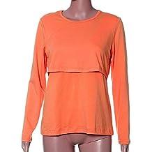 Amphia Vestido Embarazadas Ropa, Pregnant Maternity Clothes Nursing Tops Breastfeeding Long Sleeve T-Shirt