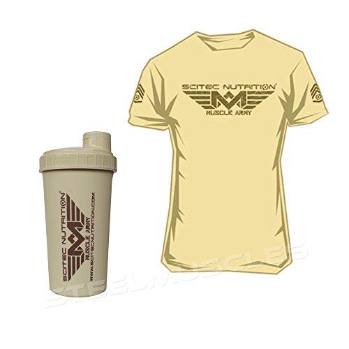 Set   Scitec Nutrition 1 x T-shirt Muscle army – Desert – Taille M a1e548d2ca5b
