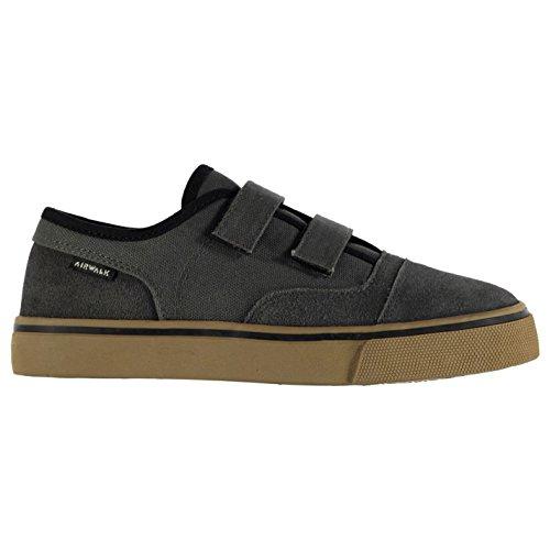 airwalk-tempo-toile-garcons-enfants-chaussures-basses-baskets-plates-plimsoles-gris-1-33