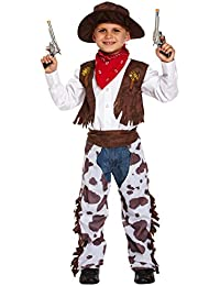 Boys Kids Childrens Cowboy Wild West Sheriff Halloween Fancy Dress Costume Outfit