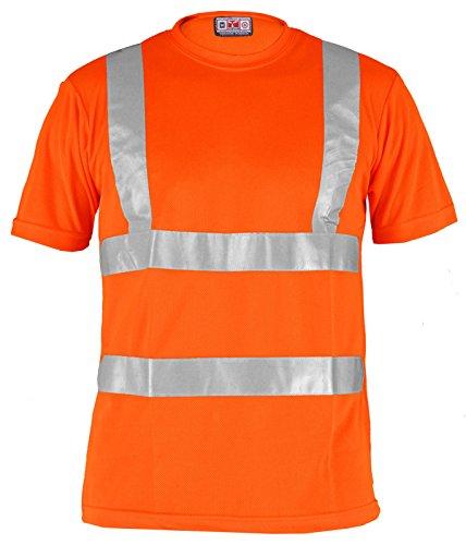 T-Shirt Da Lavoro Maglietta Traspirante Alta Visibilità Poliestere Payper Avenue, Colore: Arancio Fluo, Taglia: L