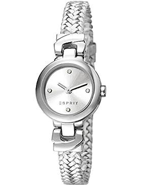 Esprit Damen-Armbanduhr Annabel Woven Analog Quarz Leder ES107662001