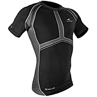 RAIDLIGHT - Raidlight CAMISETA SEAMLESS MC BLACK /DARK GREY - RSL011M.161/9996