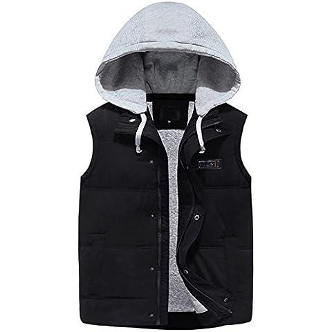 YUYU Fashion Design Hooded Down gilet invernale mantenere caldo uomo