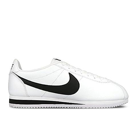 Nike Jungen Classic Cortez Leather Laufschuhe, Weiß / Schwarz, 38 1/2 EU