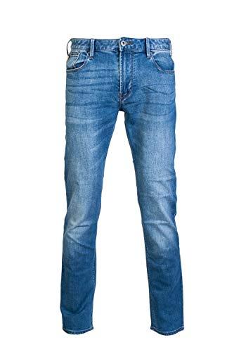 Emporio Armani J06 Enge Passform Hellblau Gewaschene Denim-Jeans 3z1j06 1dlrz - Helle Waschung, W40 - L32 -