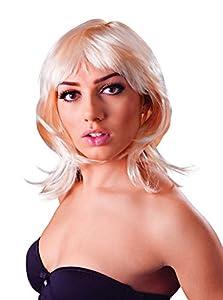 Bristol Novelty bw869Glamour capas peluca, Rubio, un tamaño