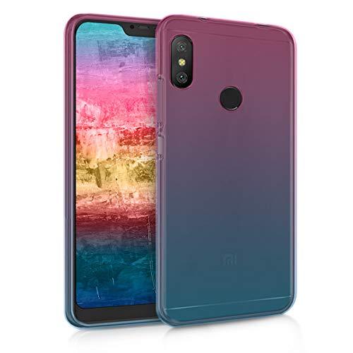 "kwmobile 46146.01 Funda para teléfono móvil 15,9 cm (6.26"") Azul, Rosa - Fundas para teléfonos móviles (Funda, Xiaomi, Xiaomi Redmi 6 Pro/Mi A2 Lite, 15,9 cm (6.26""), Azul, Rosa)"