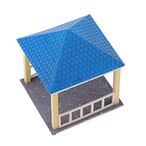 SM SunniMix Retro China Pavillon Architektur Gebäude Modell DIY Mikro Landschaften - mr1305