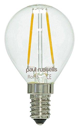 6x Vintage Style Kleine Edison-Schraube LED Filament klar 2W Golf Leuchtmittel G45Kleine runde Globe 360Abstrahlwinkel Lampe E14SES 2700K warmweiß 25W Glühlampe Ersatz [6Stück Leuchtmittel]