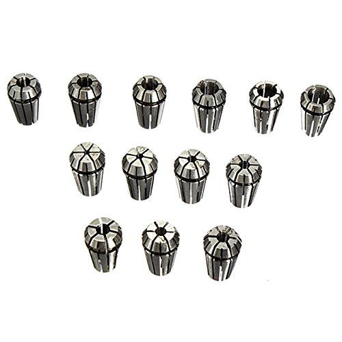 Preisvergleich Produktbild ER11 Spannzangen Set - TOOGOO(R)13-Stk ER11 Spannzangen 1-7mm Set Fuer CNC Fraesmaschinen Werkzeug Graviermaschine