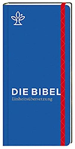 Die Bibel. Taschenausgabe stripe mit roter loser Gummilitze: Gesamtausgabe Einheitsübersetzung