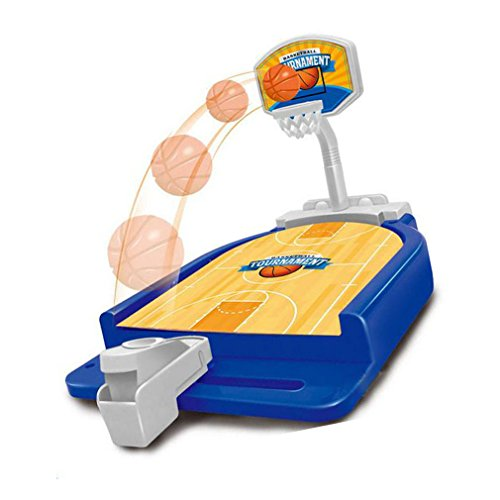 Preisvergleich Produktbild Owfeel Mini Bowling Fußball Basketball Desktop Shooting Playset Tabletop Spiel für Kinder Jungen Mädchen Indoor-oder Outdoor-Sport (Basketball)