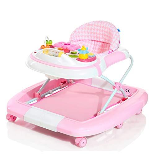 Girello Baby Walker Kids Multifunzione antiribaltamento 6-12/18 Mesi Baby Child Chair Chair Variable Rocking Horse FANJIANI (Colore : Rosa)