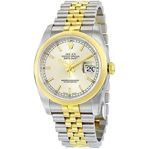 Rolex 116203 SSJ & Datejust in oro giallo 18 k-Orologio da uomo