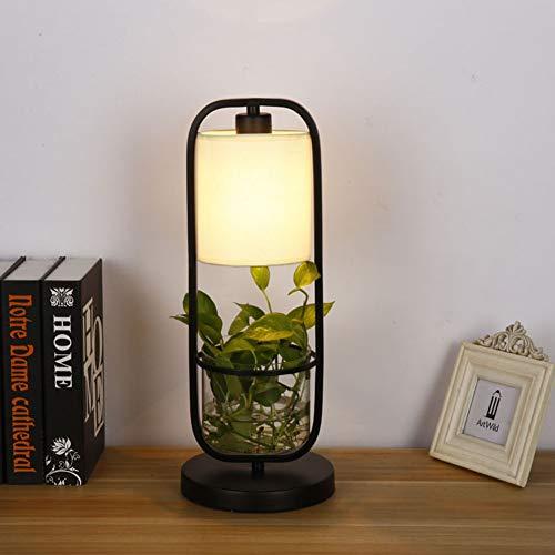 WETRR LED Schreibtisch Licht, Home Iron Art hydroponische Tischlampe Sleek Minimalist Living Room Study Bedroom Vertical Plant hydroponische Dekoration Tischlampe