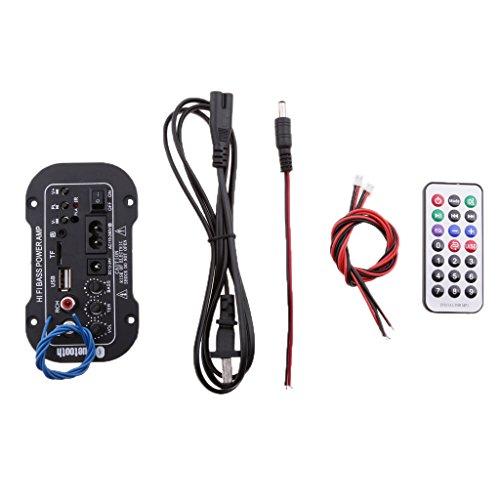 MagiDeal 12V 24V DC Autoradio Audio Verstärker mit Antenne Fernbedienung, Zubehör für Autos KFZ