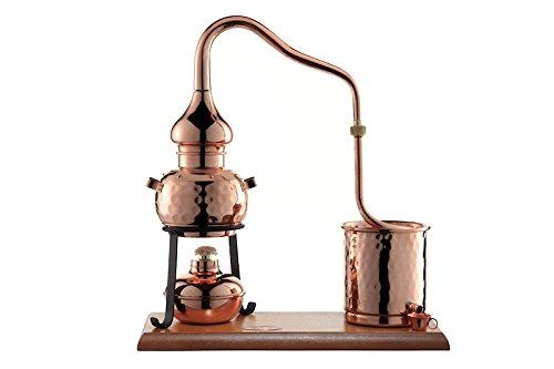 Öl-brenner-teile (CopperGarden® Destillieranlage Alembik 0,5 Liter mit Spiritusbrenner ❀ Volle Funktion zum Schnapsbrennen ❀ Legal Whisky, Brandy und Obstschnaps selbermachen ❀ das perfekte Weihnachtsgeschenk)