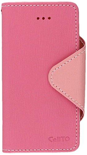 Apple iPhone 5/5S Cellto Pink / Rosa Baby-Tagebuch PU Leder Case w / Stand & Premium Clear Schutz PU Leder Hot Pink Pink