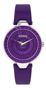 Versus Damen-Armbanduhr Analog Leder Violett 3C7210 0000