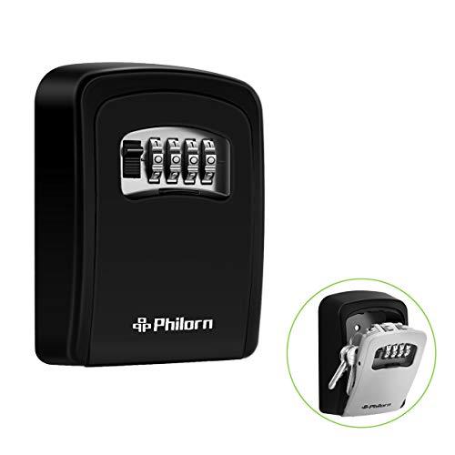 Philorn Caja Fuerte llaves, Cajas Fuerte | Código Reiniciable - Resistente al...