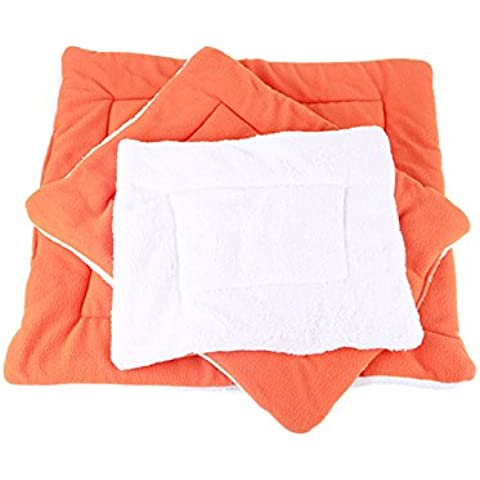 jysport Pet coperta piccola, media e grande air-conditioned Tappeti Dog Kennel stagioni disponibili Cane materasso, 36 x 45 cm, Orange, 36*45CM