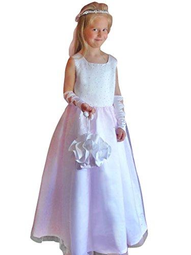 Kommunionkleid Kleid Taufkleid Kommunionskleid Festkleid Blumenmädchen Hochzeit Gr. 146 (54)