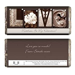 Personalised Affection Art Love Chocolate Bar - An Ideal Gift For Valentine's Day, Wedding, Anniversary & Engagement, Valentine's Day, For Her - With Free Personalisation