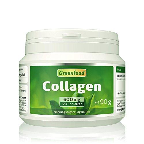 Collagen, 500 mg, hochdosiert, 120 Tabletten, vegan – reduziert die Faltenbildung, erhöht den Feuchtigkeitsgehalt der Haut. OHNE künstliche Zusätze, ohne Gentechnik.