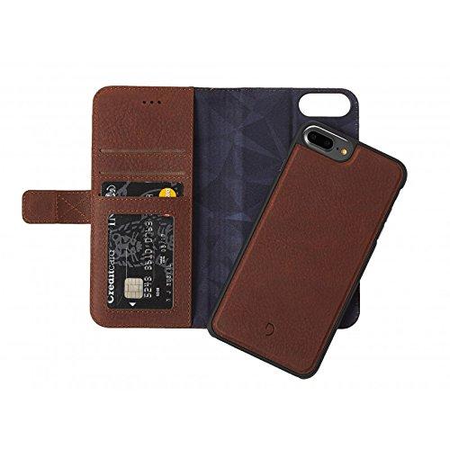 Decoded Wallet Case Magnetverschluss aus Leder für iPhone 7Plus braun