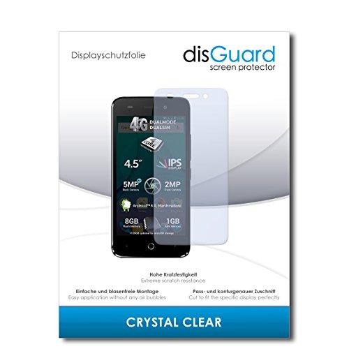 disGuard® Bildschirmschutzfolie [Crystal Clear] kompatibel mit Allview P5 Lite [4 Stück] Kristallklar, Transparent, Unsichtbar, Extrem Kratzfest, Anti-Fingerabdruck - Panzerglas Folie, Schutzfolie