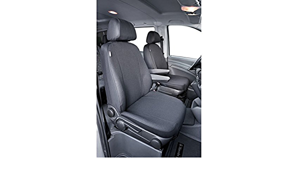 Car Seat Cover For Van Mercedes V Class Vito Viano W638 W639 2 Single Seats To Arms With Jacquard 03 Onwards Anthracite Auto