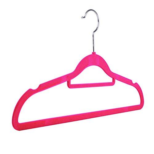 Non-slip Flocked Velvet Space Saving Coat Hangers Trouser Bar Clothes Hanging