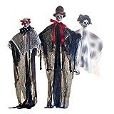 Toyvian 3 Piezas de Halloween Colgante Fantasma Miedo Juguete Calavera Ropa Fantasma Colgante Establece Accesorios del Lugar para la Fiesta casa encantada de Halloween