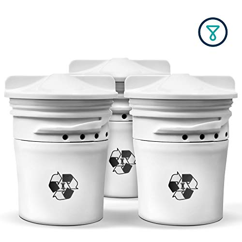 TAPP 2 - Set di 3 Cartucce di Ricambio Biodegradabili (Tecnologia al Carbone Attivo, Elimina Microplastica, Cloro, Piombo, Pesticidi)