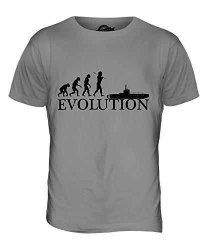 CandyMix U Boot Evolution Des Menschen Herren T Shirt Hellgrau