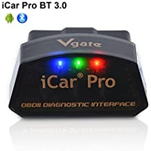 Vgate iCar Pro Bluetooth 3.0 OBD2 Lector de código OBDII ELM327 Escáner compatible Scan Tool Auto Check Engine Light Light para Torque Android