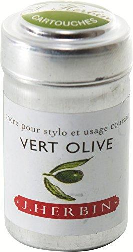 Preisvergleich Produktbild J hebrin Schreiben Tintenpatronen–Olive Grün (6Stück)