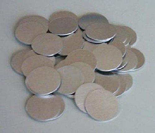 100x Ronde, Aluminiumscheibe, Alu-Ronde, Scheibe, Metallscheibe, Aluminium, Werkmarke (30,75 x 1,5 mm) -