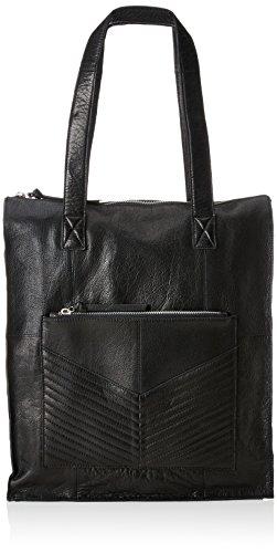 PIECES – Pcdiana Leather Shopper, Shoppers y bolsos de hombro Mujer, Negro (Black), 12x40x30 cm (B x H T)