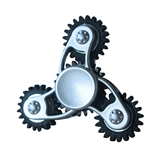 Jiacheng29 Mechanical Steam Gear Wheel Linkage Tri Hand Spinners Finger Gyro Fidget EDC Toys Random Color