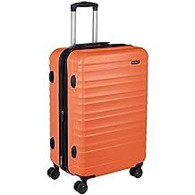 AmazonBasics Hardside Trolley Luggage - 24-Inch, Orange
