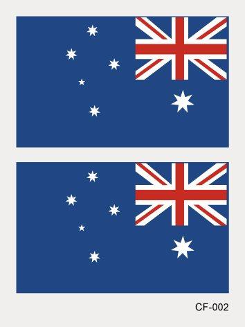 r Russischen Wm 2018 Wasserdichte dekorative Flaggen Aufkleber tattoo Aufkleber fans face-to Die wm Blut fans Australien TATTOOS 4 Gesicht (Halloween Amerika Australien)
