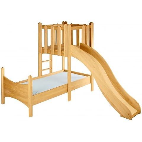 Ahorro Conjunto: cama Noah con la torre y tobogán. Aliso Biológica