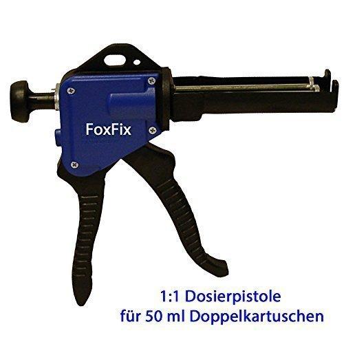 BerFix Dosierpistole für 50ml Kartuschen Kartuschenpistole Kunststoffkleber 2K Metallkleber