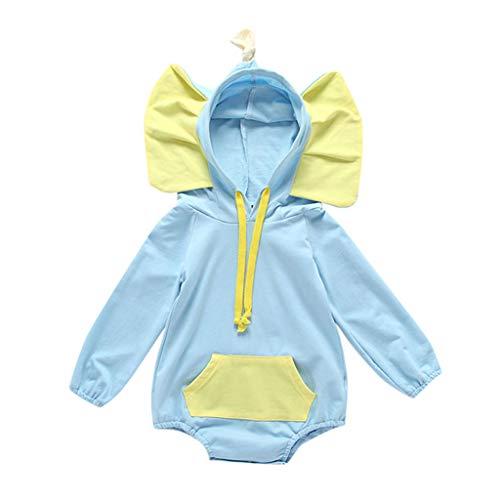 squarex Kleinkind Neugeborenes Baby Mädchen Langarm Overall Cartoon gedruckt 3D Strampler Kostüm Kleidung niedlichen Overall Casual Strampler