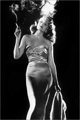 Poster 100 x 150 cm: Gilda de Charles Vidor - Rita Hayworth von Bridgeman Images - hochwertiger Kunstdruck, neues Kunstposter (Gilda Kleid)