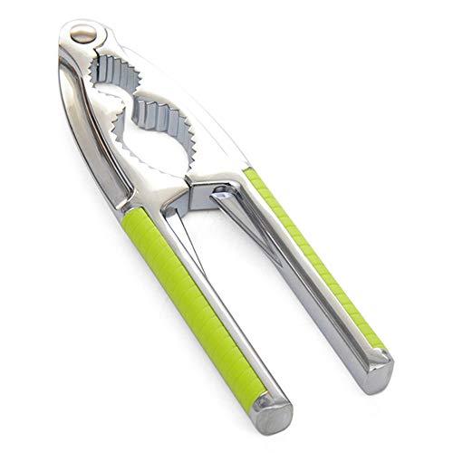 Outtybrave Edelstahl-Küchenwerkzeug, Multifunktions-Nussknacker, Schale, Walnusshalter, Knallzange, Metallöffner