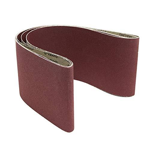 belupai 3pcs 6X48 Zoll Schleifbänder Aluminiumoxid 100 Körner Schleifmittel Schleifbänder
